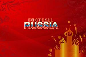 Paper art of world Russian red Soccer  vector