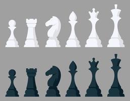 ensemble de pièces d'échecs. vecteur