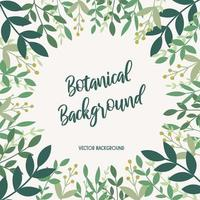 Floral modern background with green leaves vector