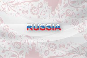 Abstract world Russian red Soccer  vector
