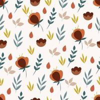 Botanical seamless pattern with flowers
