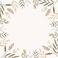 Moderm floral background vector