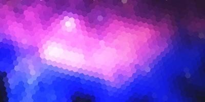 plantilla de banner con diseño geométrico hexagonal