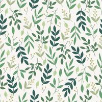 patrón floral transparente con hojas verdes vector