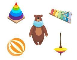 Set of children's toys.