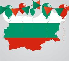 Bulgarian Map and Flag
