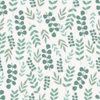 botánico de patrones sin fisuras con hojas verdes vector