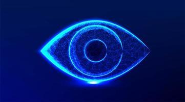 diseño de ojo azul brillante