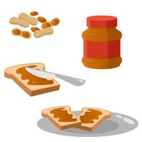 Set of objects with peanut paste.