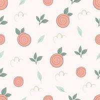 patrón sin fisuras con rosa sobre fondo pastel vector
