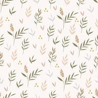 botánico de patrones sin fisuras vector