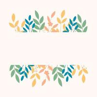 Composition with flowers and leaves vector