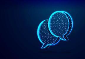 diálogo, nubes de chat. vector