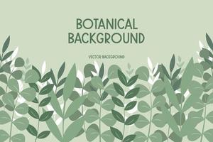 Background with leaves and flowers vector