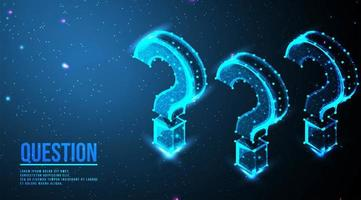 Isometric question mark design  vector