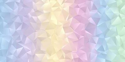 Pastel coloured low poly banner design  vector