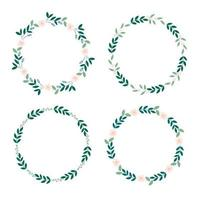 Botanical wreath sets vector