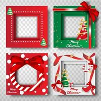 Merry Christmas and Happy New Year Border Frame Photo