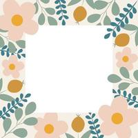 Botanical background with flowers vector