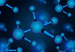 Abstract molecules blue design