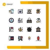 Modern, color icon set  vector