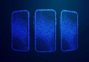 los teléfonos inteligentes muestran un diseño de baja poli vector