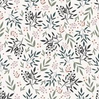 patrón floral sin fisuras con hojas vector
