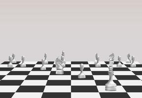 concepto de ideas de negocio de estrategia en un juego de mesa vector