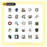 zufälliges Icon-Set im Piktogramm-Stil vektor