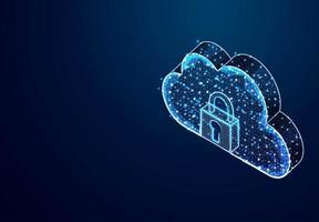 Padlock and Cloud Storage