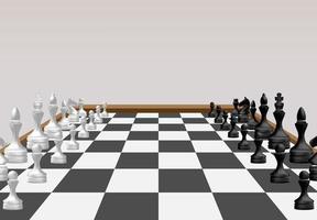 concepto de juego de mesa de ajedrez de ideas de negocio vector