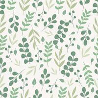 botánico de patrones sin fisuras. fondo floral. vector