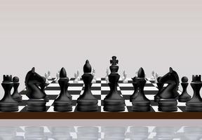 Schachbrettspielkonzept vektor