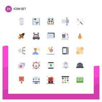 Technology flat-design icon set  vector