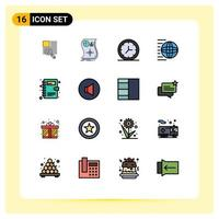 Various line and fill icon set