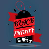 Black Friday discount label or tag vector