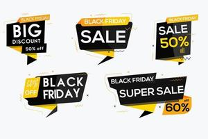 Black friday banners pack vector