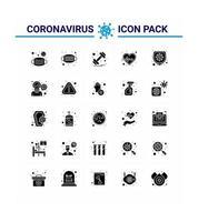 Coronavirus Silhouette Piktogramm Icon Set vektor