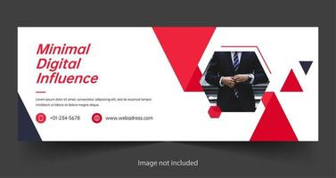 Digital marketing social media cover template