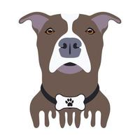 Brown and white dog design vector