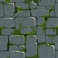 Stone Brick Wall Seamless Texture for Jungle Theme vector