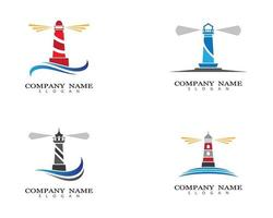 Lighthouse logo images vector