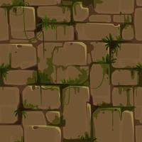 Yellow Brick Wall Seamless Texture for Jungle Theme vector