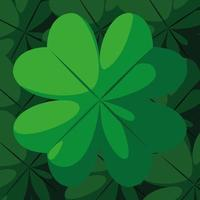 St Patrick's day with clover decoration vector