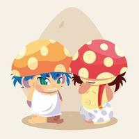 hongo personaje de avatar de cuento de hadas vector
