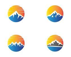 conjunto de diseño de logotipo de montaña