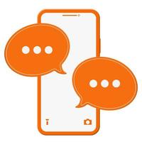 Smartphone with Speech Bubble Message vector