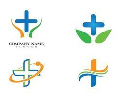 Medical plus sign logo design set