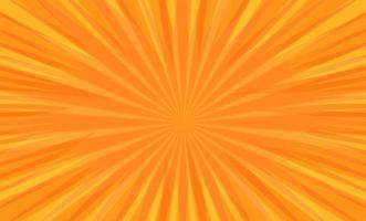 Comic book pop art radial stripes on orange