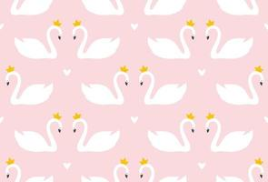 Swan Print Seamless Texture vector